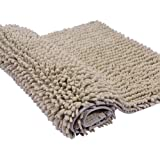 Cosyroom Bathroom Mat Rectangle Fluffy Extra Soft Anti-slip Microfiber Speed Dry Bath Rugs Mats Doormat, Non-Slip Area Rug Carpet Shaggy Floor Mat High Absorbent Water for Baby Bathroom Tub Shower Toddlers 50*80CM 31*20Inches, Beige