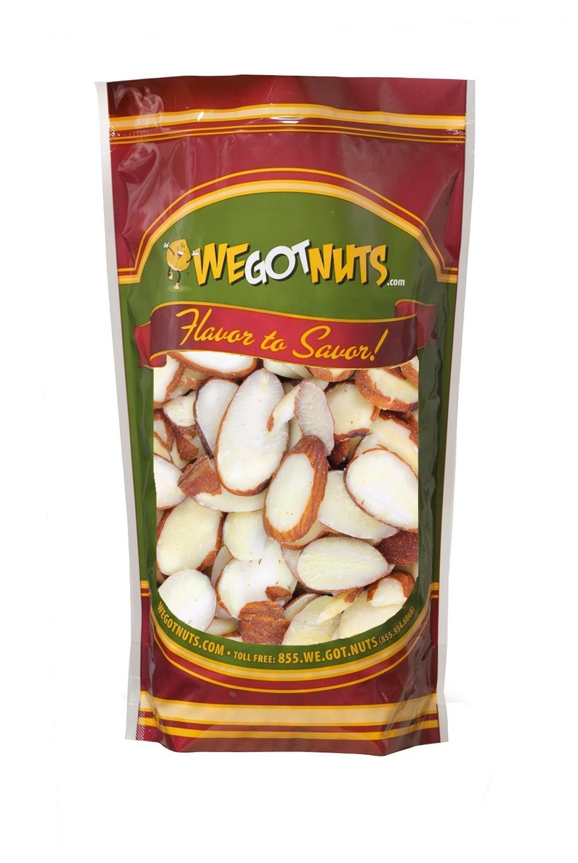 We Got Nuts Sliced Raw Almonds 3 Lbs in Resealable Bag