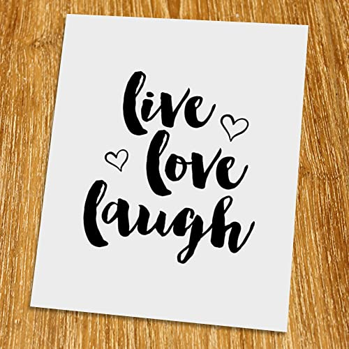 Amazoncom Live Love Laugh Print Unframed Typography Print
