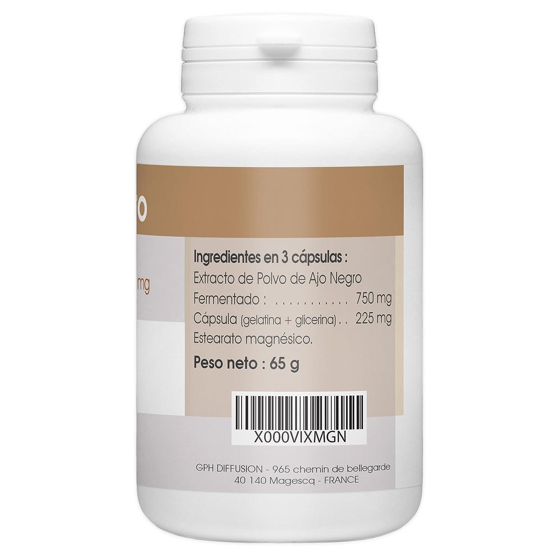 Ajo Negro Fermentado - 250 mg - 200 cápsulas: Amazon.es: Salud y cuidado personal