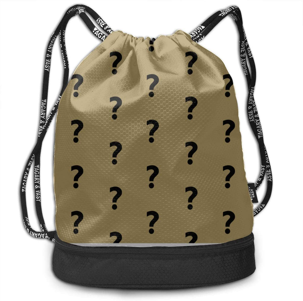Gym Yoga Bag Question Mark Creatative Gym Drawstring Bags Backpack Sports String Bundle Backpack For Sport With Shoe Pocket Small Backpack
