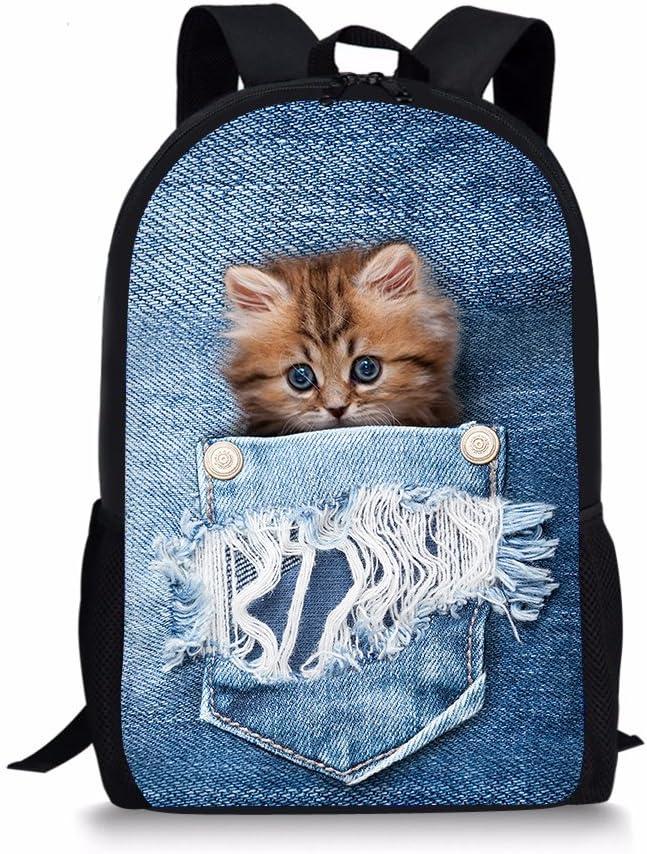 HUGS IDEA Girls Boys School Backpack Set Bookbag with Insulated Lunch Box Pen Holder Fire Soccer