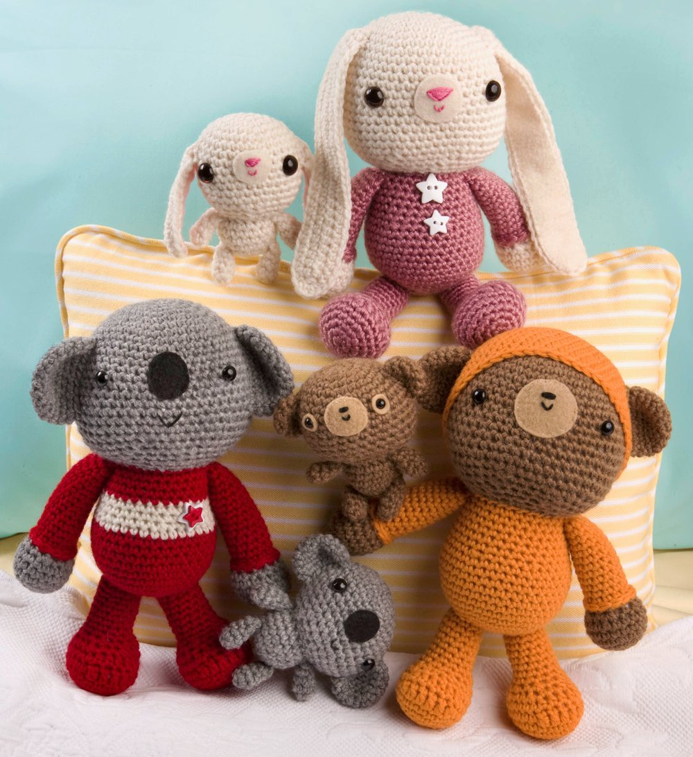 amigurumi two crocheted toys for me and you and baby too ana