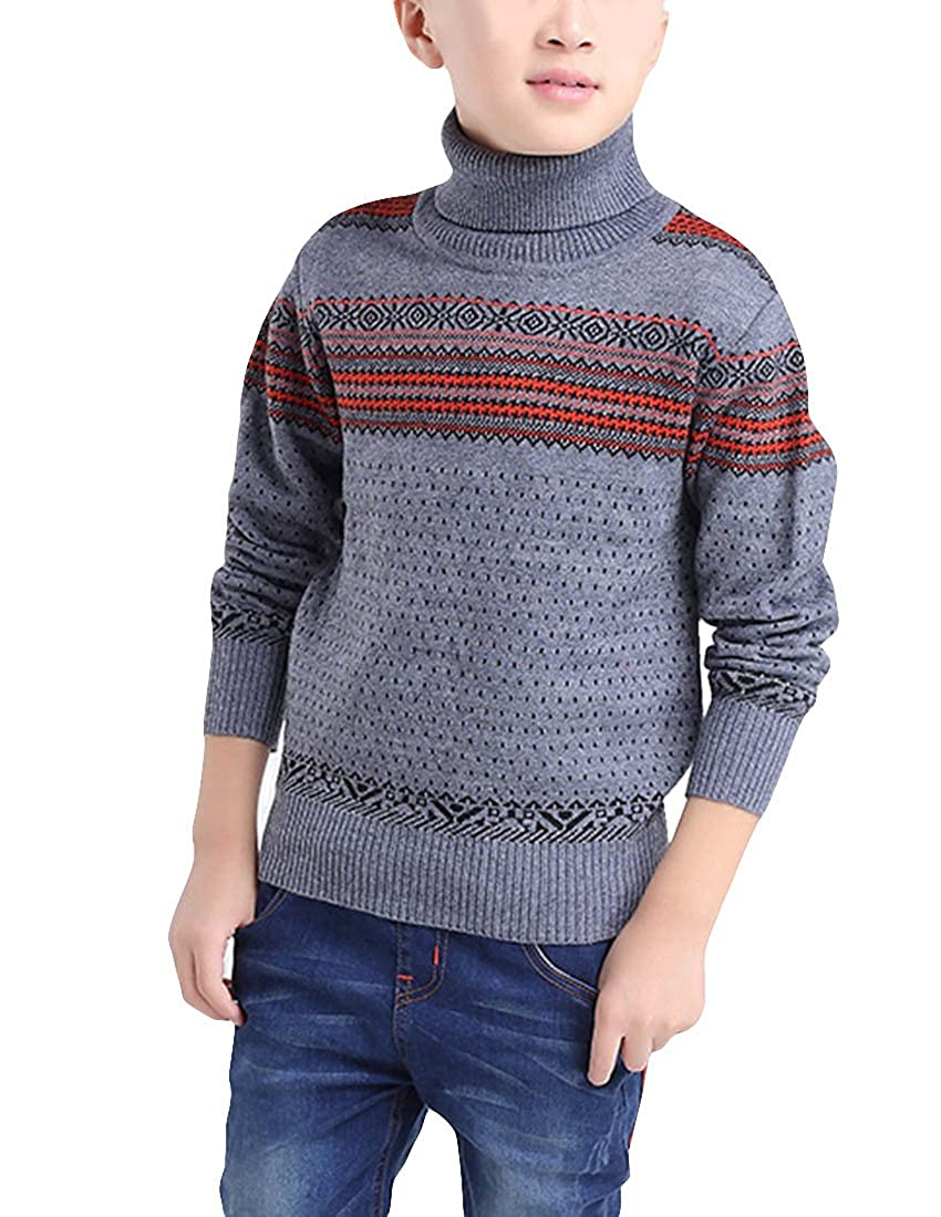 MFrannie Boy Active Vintage Dot Stripe Anti Pill Wool Knitting Sweater