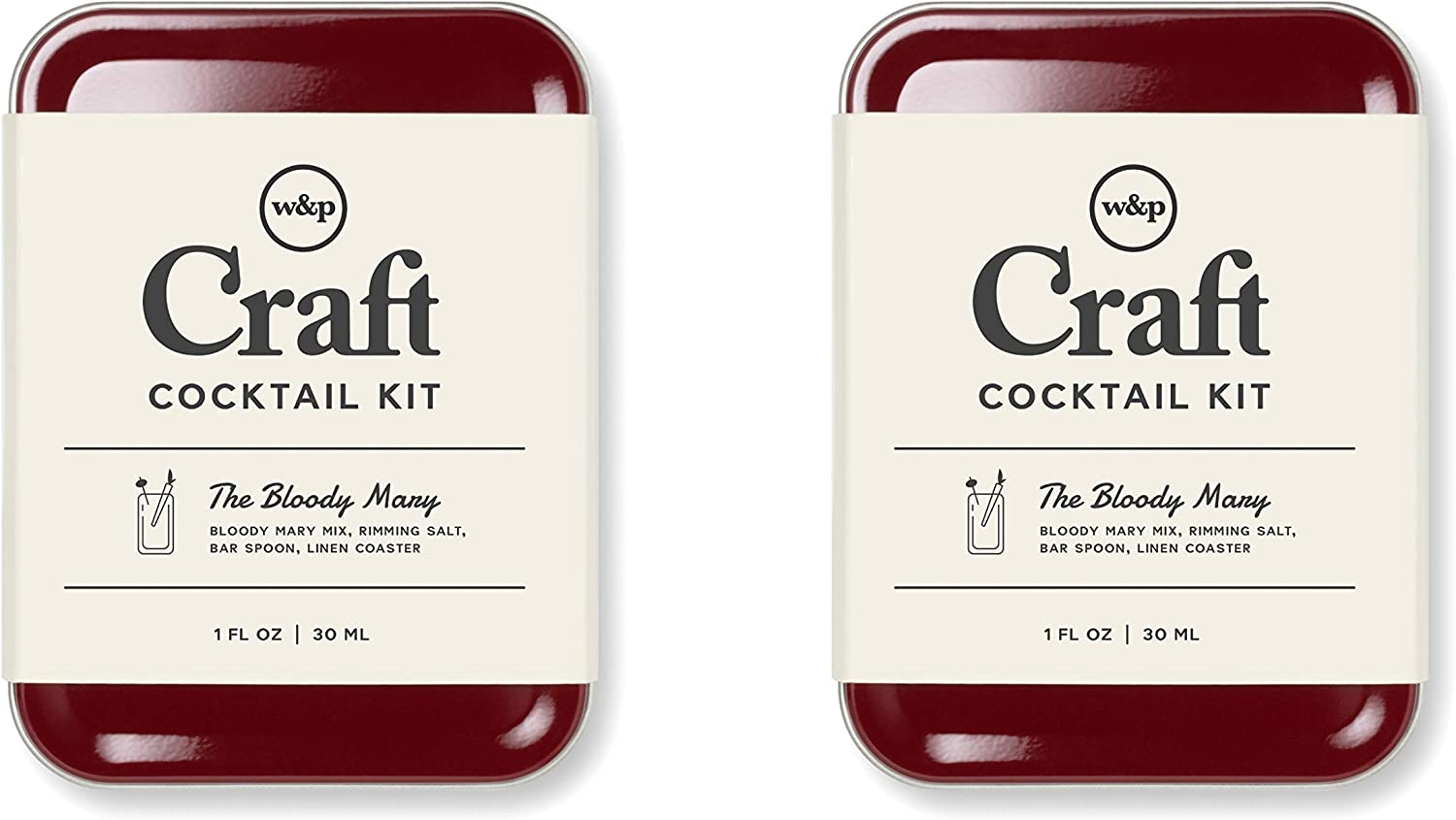 Pack of 2 W/&P MAS-CARRY-BM-2 Carry on Cocktail Kit TSA Approved Bloody Mary Travel Kit for Drinks on the Go Craft Cocktails