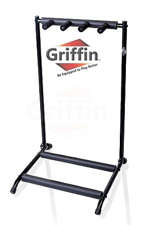 Tres de pie para guitarra por Griffin | soporte para 3 guitarras y ...