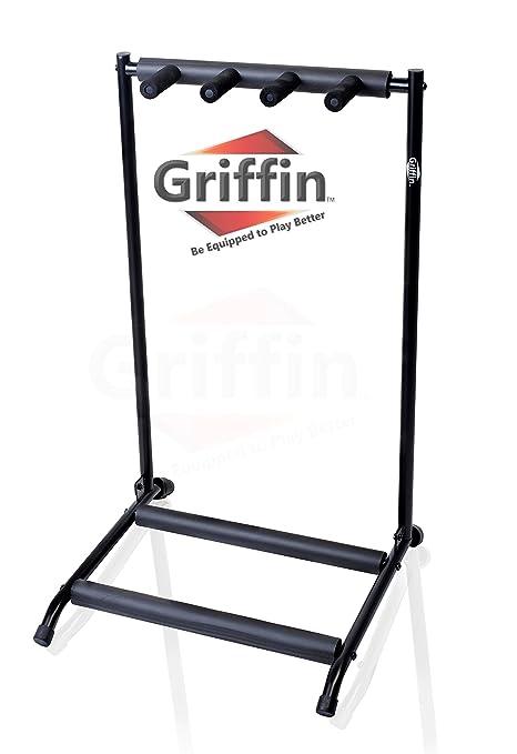 Tres de pie para guitarra por Griffin | soporte para 3 guitarras y se pliega | para eléctrica ...