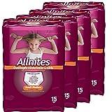 Allnites Overnight Underwear for Girls, Small / Medium, (15-Count), Pack of 4