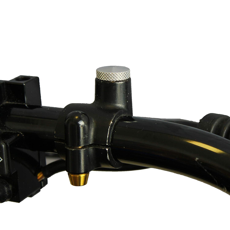 2x Motorrad Spiegel Abdeckung M10x1,25 Verschluss Blindstopfen Stopfen Alu silber