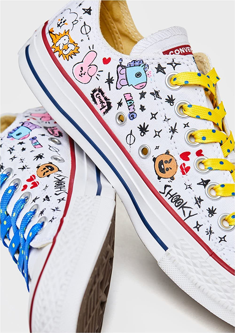 Amazon.com: BT21 x Converse Collarboration Chuck Taylor All Star Low White (Limited): Shoes