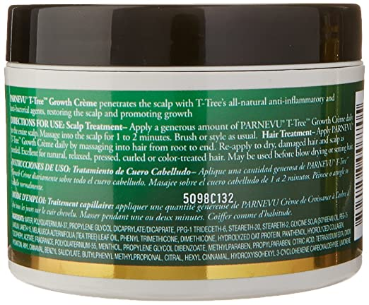 Amazon.com : Parnevu T-Tree Growth Creme, 6 Ounce : Hair Shampoos : Beauty
