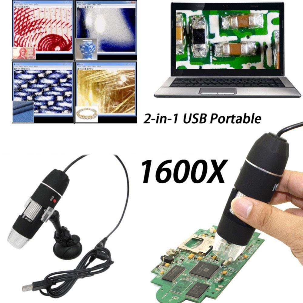 Wenhu Mega Pixels 8 LED Digital Microscope USB Endoscope Camera Microscopio Magnifier Electronic Stereo Tweezers Magnification