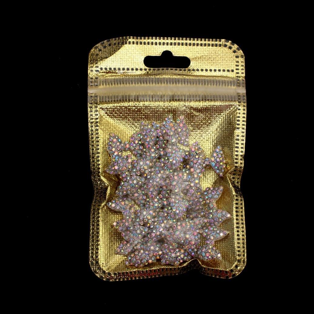 Nail Art ,Putars Women Sexy 30PCS DIY 3D Alloy Rhinestones Diamond Bow Tie Nail Art Decorations Slices Silver