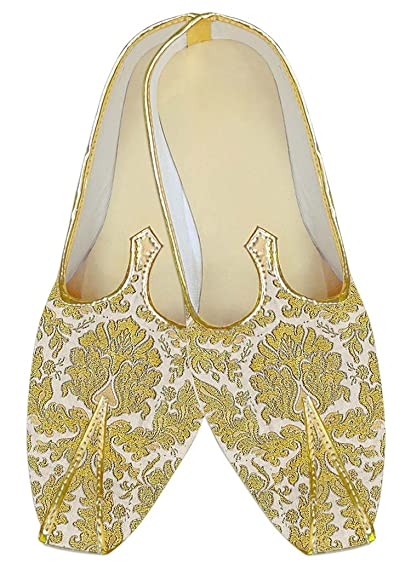 Mens Yellow Kheenkhap Wedding Shoes Traditional MJ18419