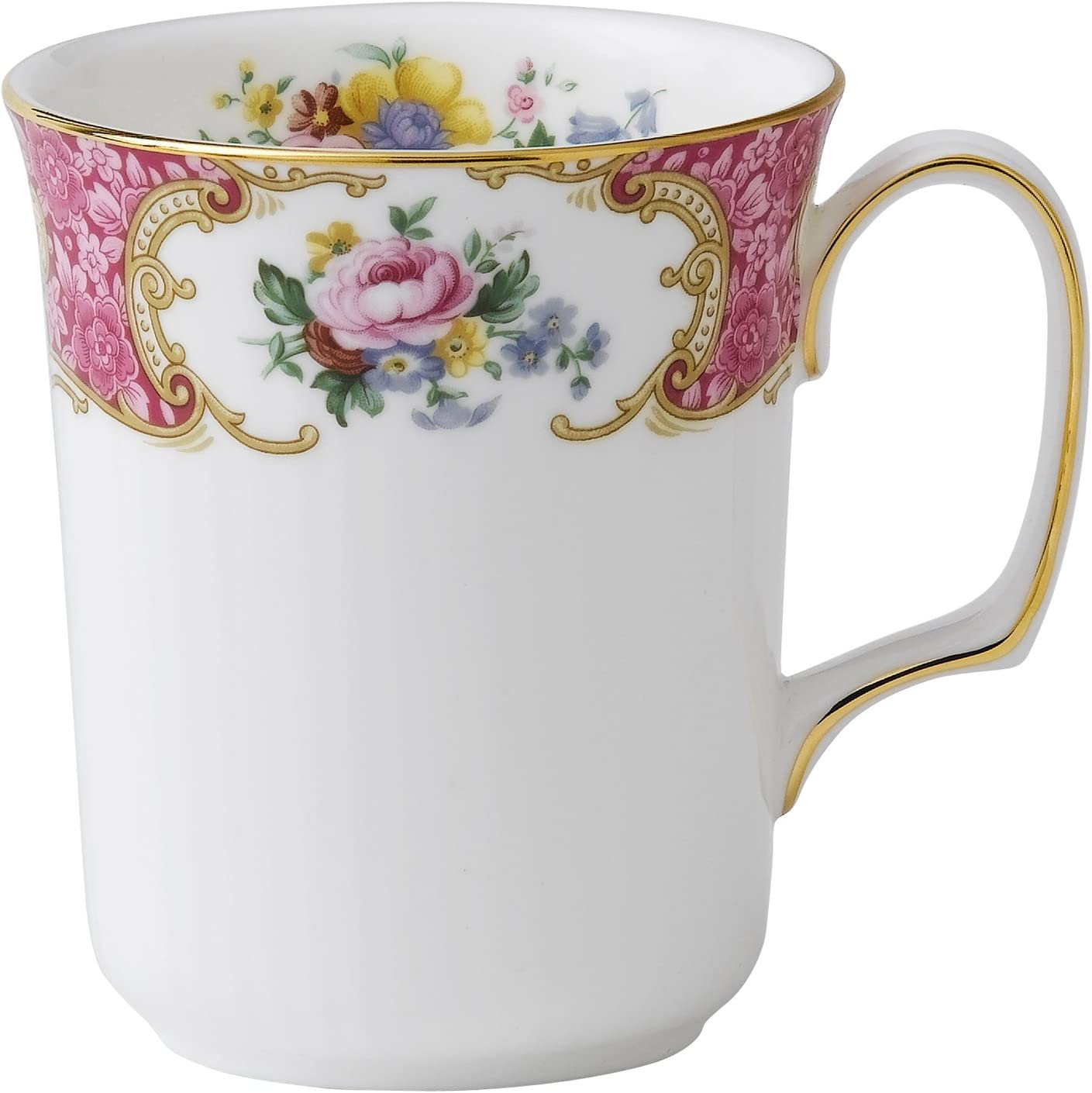Royal Albert Lady Carlyle Bone China Beaker Mug, Multicolor, 8 ounce