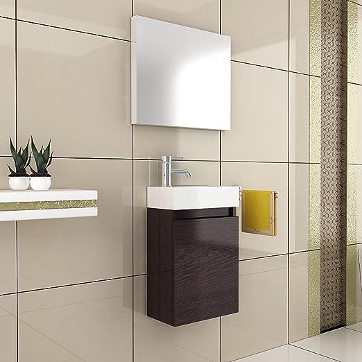 Badmöbel / Badmöbelschrank Mit Spiegel / Waschbecken Mit Unterschrank /  Design Spiegel / Badezimmer / Farbe Wenge / Badset / Bad: Amazon.de:  Baumarkt Design Ideas