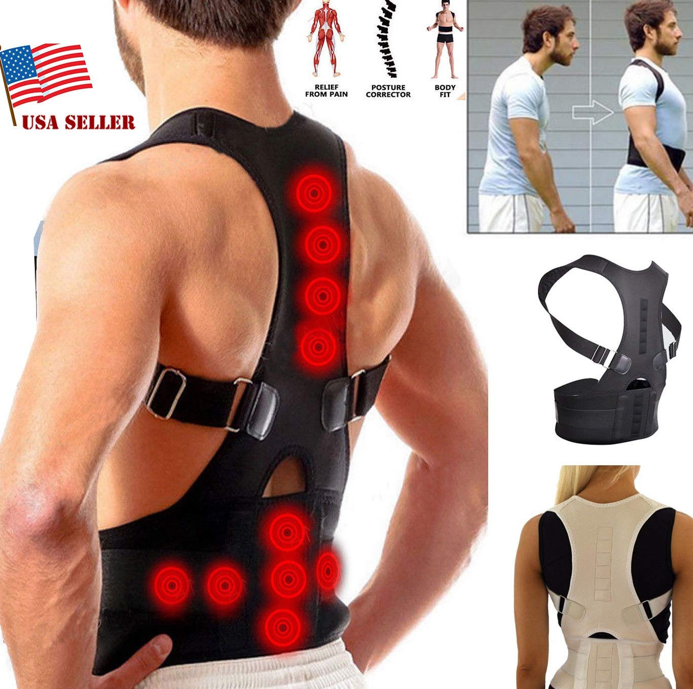 #1 Fajas Ortopedicas para Hombres Faja Correctora Posture La Espalda Talla (S)