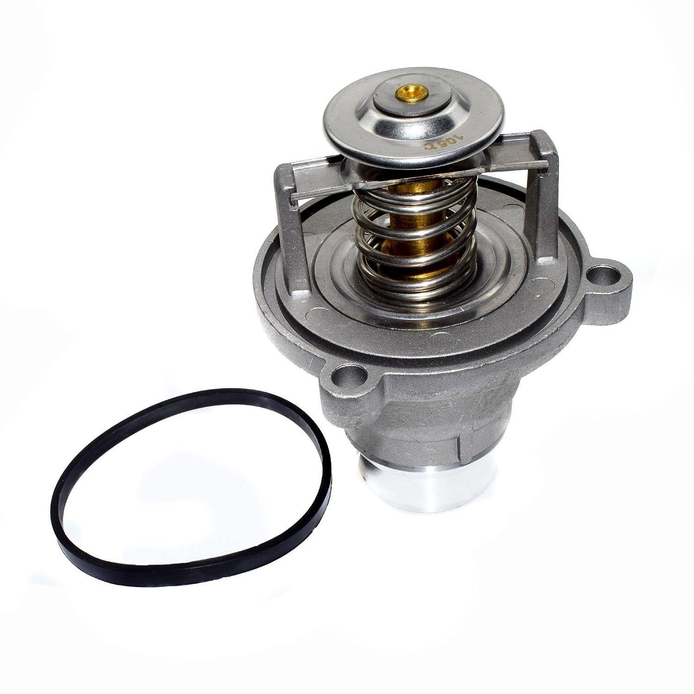 New 11537586885/11537502779 Engine Cooling Thermostat Housing Assembly For BMWS E60 E65 E66 545i 550i 645i 650i 745 750 760 2002 2003 2004 2005 2006 2007 2008 2009 2010 2011 2012 2013 2014 2015 2016 eGang Auto