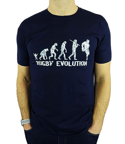 My Generation Gifts Rugby Evolution - Rugby Divertido del Regalo de cumpleaños/Presente para Hombre de la Camiseta
