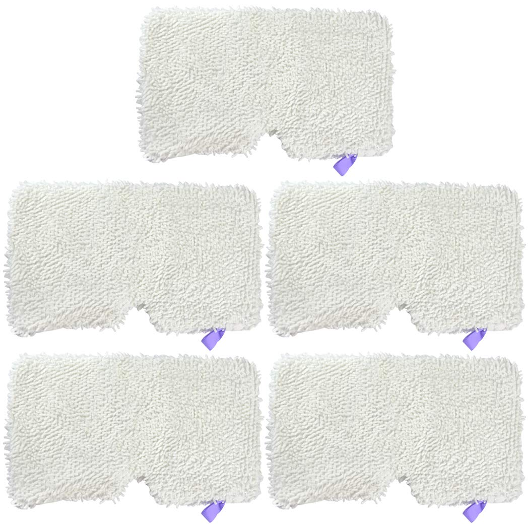 Ugardo 5pcs Replacement Microfiber Steam Mop Washable Pads for Shark Steam Pocket Mops S3500 Series 3501,S2901,S2902,S3455K,S3501,S3550,S3601,S3801,S3901,S4601,S4701,SE450 Accessories by Ugardo