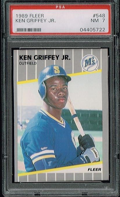 cb99946bfa PSA 7 1989 Fleer Rookie Card Ken Griffey Jr MLB Baseball Card #548 Seattle  Mariners