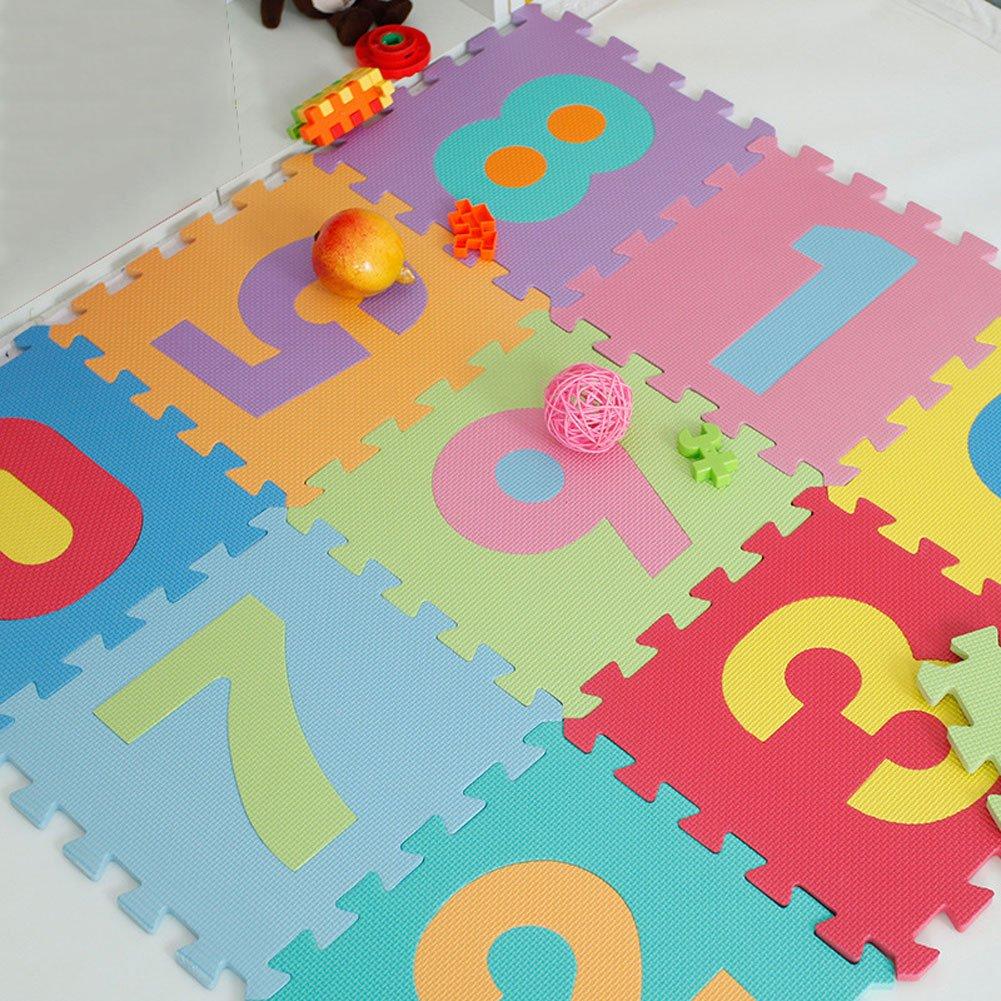 Puzzle Play Mat,Foam Floor Play Mat,Foam Interlocking Tiles,Alphabet & Number Foam Puzzle Mat,NON-TOXIC EVA 36 Piece Multi-Color Children Play & Exercise Mat (Large) (Large) by Chuanyue (Image #8)