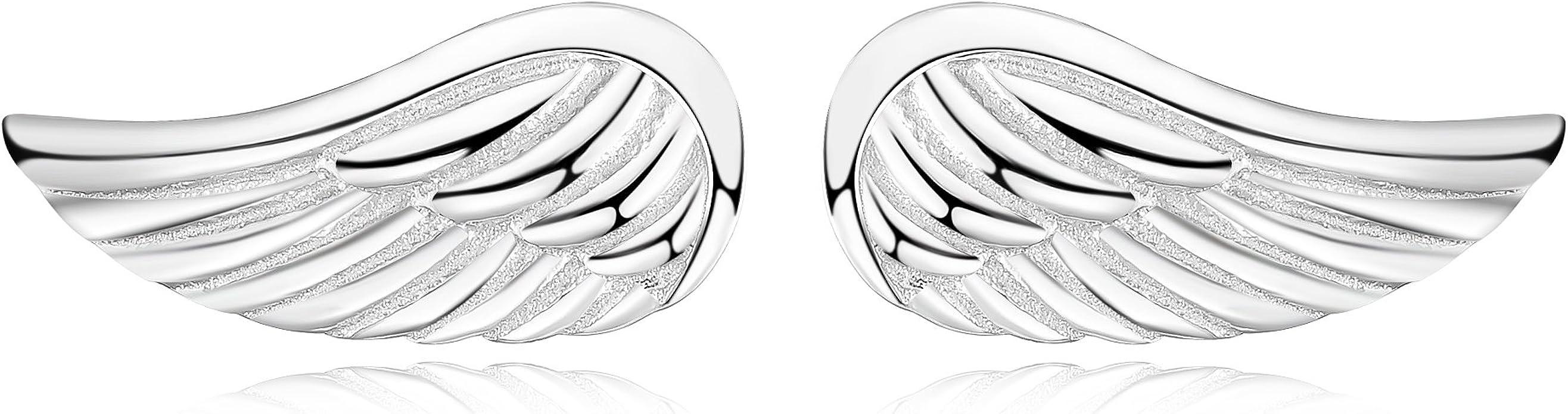 Presentski Argent sterling 925/C/œur Boucles doreille avec CZ plaqu/é or rose