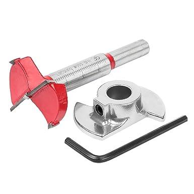 15 mm-45 mm carbure de tungst/ène pour le travail du bois avec profondeur de per/çage r/églable Foret /à forstner 35 mm avec tige ronde de 8 mm .