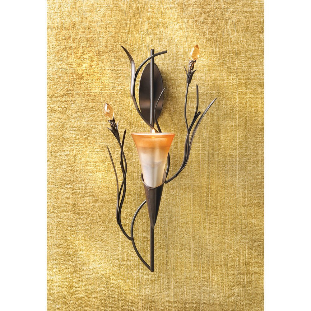 Set of 2 Dawn Lily Wall Sconce Candle Holder