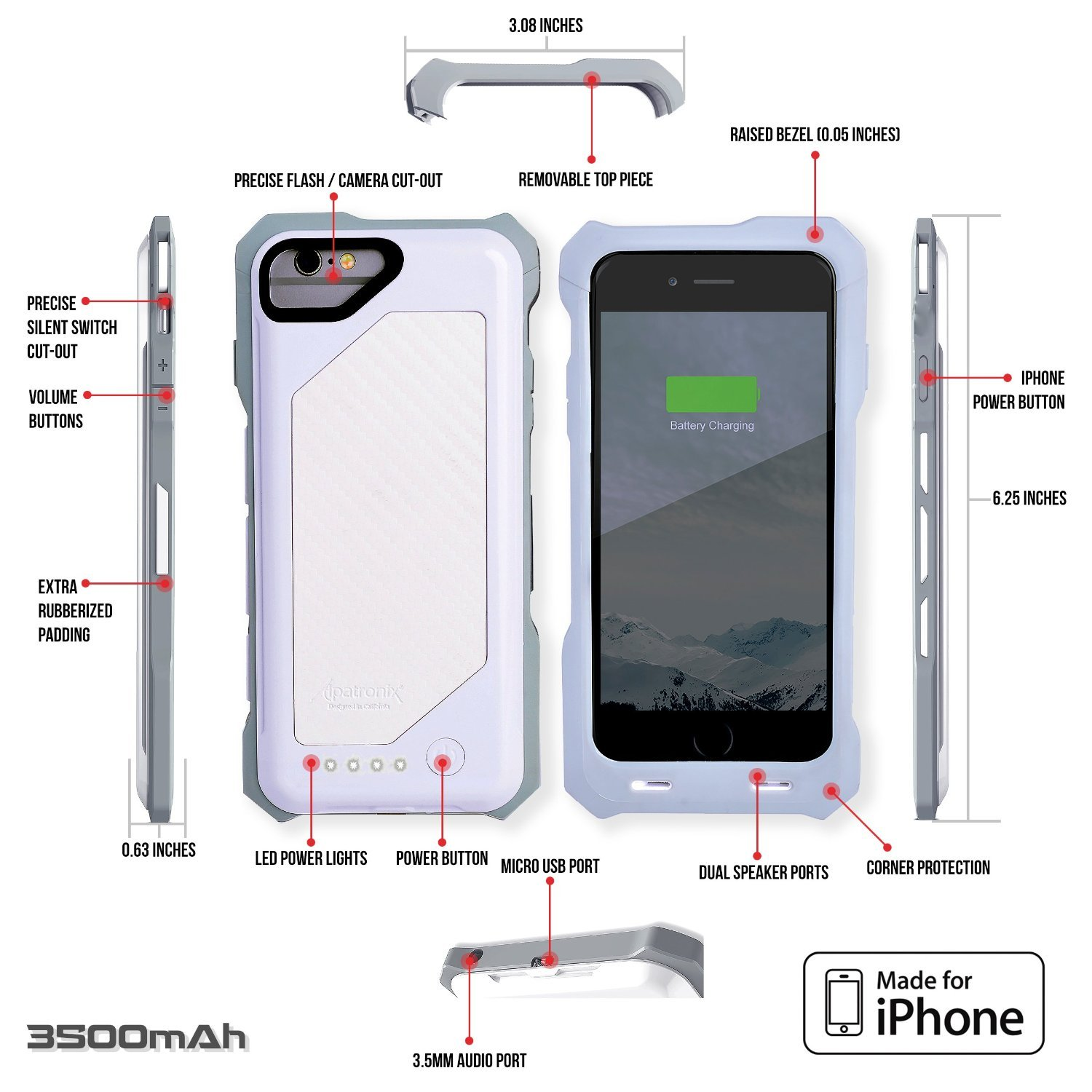 iPhone 6S Battery Case, Heavy Duty & Rugged: Amazon.co.uk