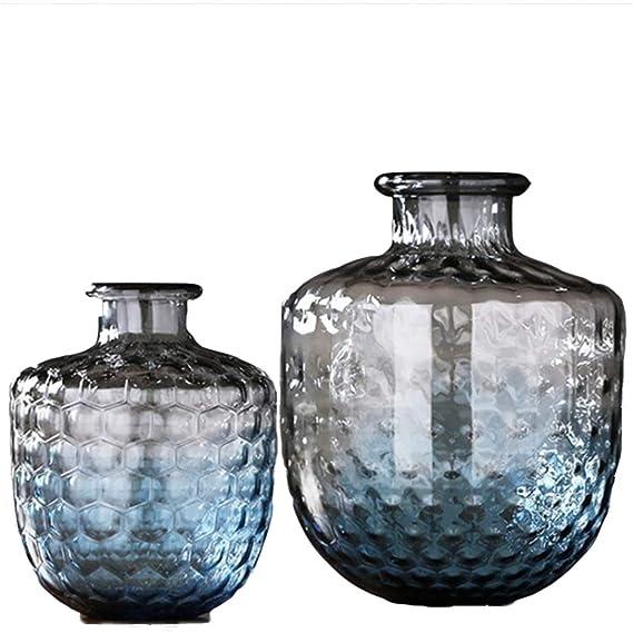 Amazon.com: SUWIN - Jarrón nórdico de cristal con patrón de ...