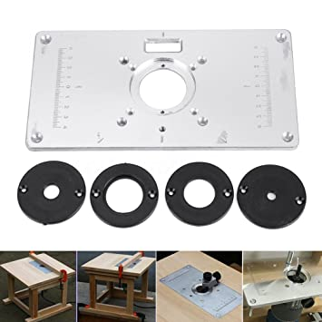 700c aluminum router table insert plate for woodworking benches with 700c aluminum router table insert plate for woodworking benches with 4pcs insert rings engrving machine greentooth Gallery