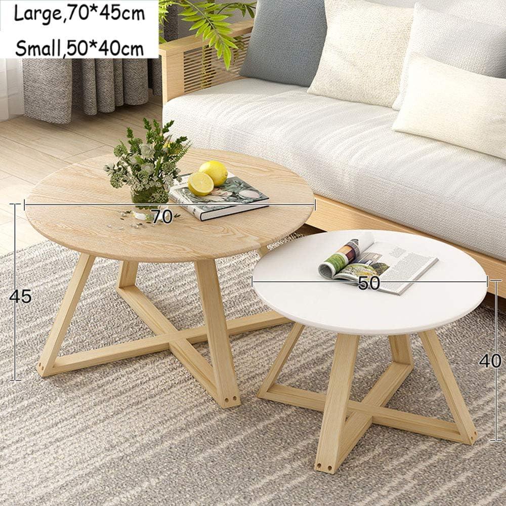 tavolino da Salotto in Stile Accent Home Decorazioni Moderne con Gamba in Legno Tavolino da Salotto a 2 posti con tavolino Estraibile