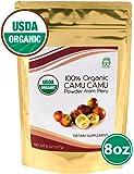 Madre Nature - 100% USDA Organic Camu Camu Powder 8oz Value Pack - Raw Peruvian Camu Camu Powder from High Concentrated Pulp - non-GMO - Vegan - Gluten Free (8oz)