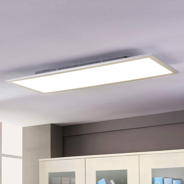 Lampenwelt LED Deckenleuchte (LED Panel) 'Livel' (Modern) in Weiß u.a. für Küche (1 flammig - Lampenwelt Deckenleuchten