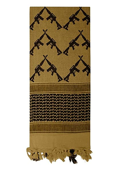 Amazon.com  Rothco Crossed Rifles Shemagh Tactical Scarf 33d4e08088d