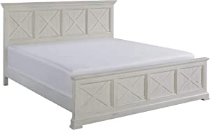 Seaside Lodge White King Bed by Home Styles