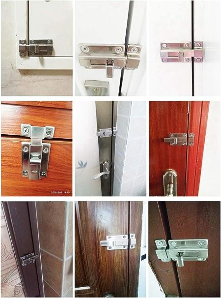 YUOIP® Cerraduras para puerta corredera de acero inoxidable para ...