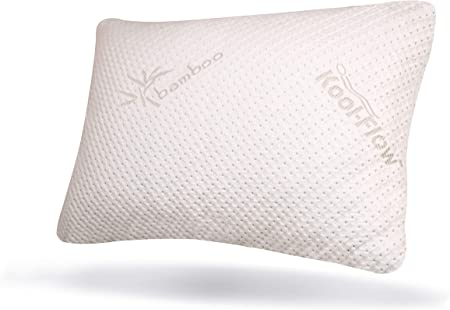 Cooling Shredded Memory Foam Bamboo Pillows Ultra Luxury Cover King//Queen Size