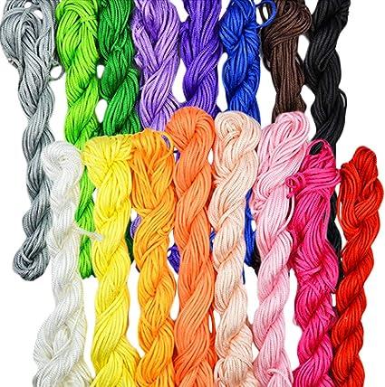 1mm Nylon Macrame Shamballa Braided Bracelet Rattail Cord Thread String Rope