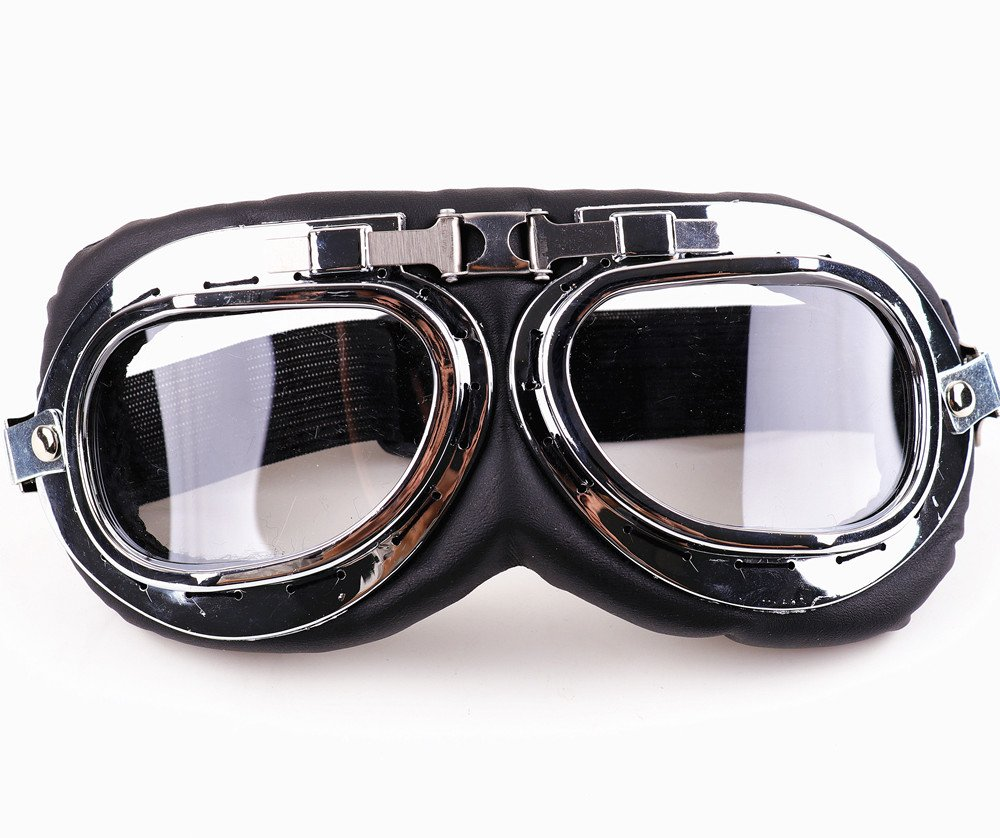 XYZCTEM Aviator Pilot Motorcycle Half Helmet Goggles Flying Motorcycle Biker Motocross Cruisers Sun UV Wind Eye Protect XYZCTEM-213