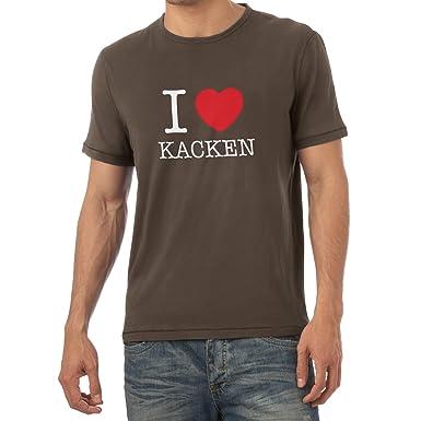 Texlab I Love Kacken Herren T Shirt Amazonde Bekleidung