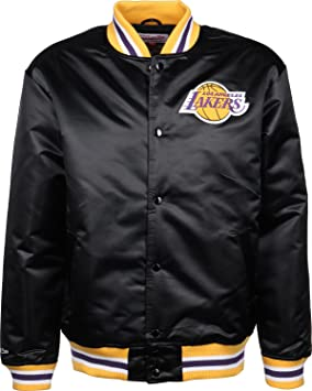 Mitchell & Ness LA Lakers Satin Chaqueta universitaria black
