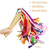 Hangnuo 30 Pack Ribbon Wands Wedding Streamers with