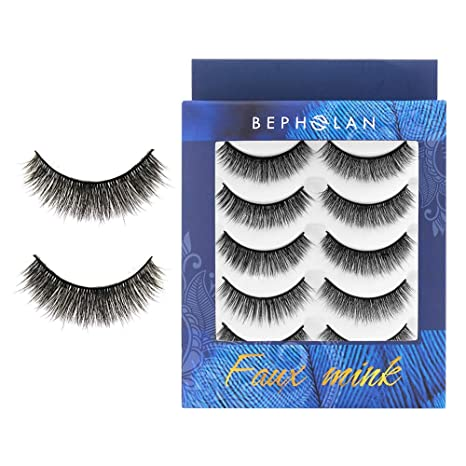 f40053eef5c Buy BEPHOLAN 3D Faux Mink Lashes(XMZ113) Online at Low Prices in India -  Amazon.in