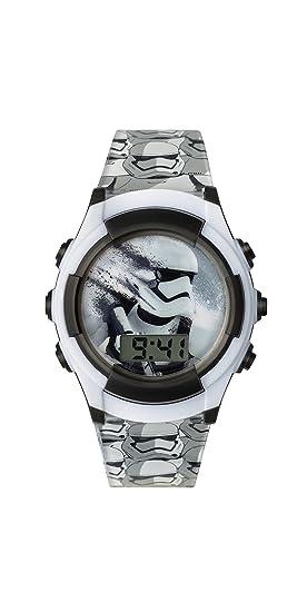 Reloj Digital de Star Wars para niño con Esfera Blanca, Pantalla Digital y Correa de plástico Negro SWM3069: Amazon.es: Relojes