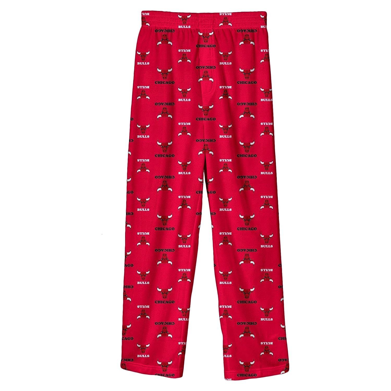 NBA Chicago Bulls Youth Boys 8-20 Sleepwear All Over Print Pants (Medium)