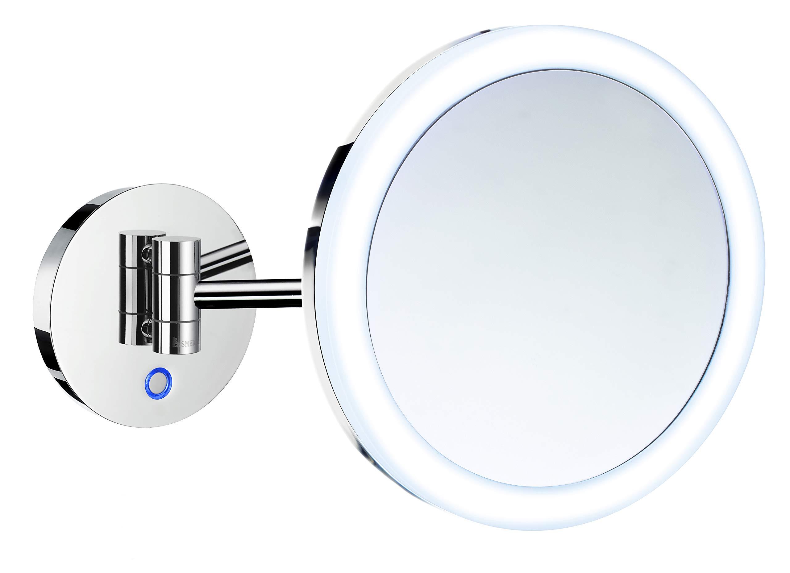 Smedbo Wallmount Shaving/Make Up Mirror with Battery