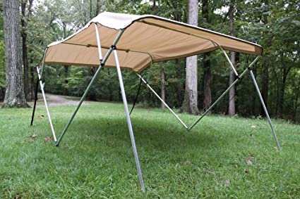 FAST SHIPPING - 1 TO 4 BUSINESS DAY DELIVERY Frame 54 High Canopy Complete Kit 91-96 Wide New Beige//Tan Pontoon // Deck Boat Vortex 4 Bow Bimini Top 10 Long and Hardware