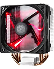 Cooler Master Hyper 212 LED with PWM Fan, Four Direct Contact Heat Pipes, Unique Blade Design and Red LEDs Cooling (RR-212L-16PR-R1)